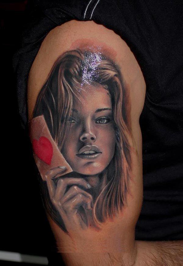 Tatouage Visage De Femme