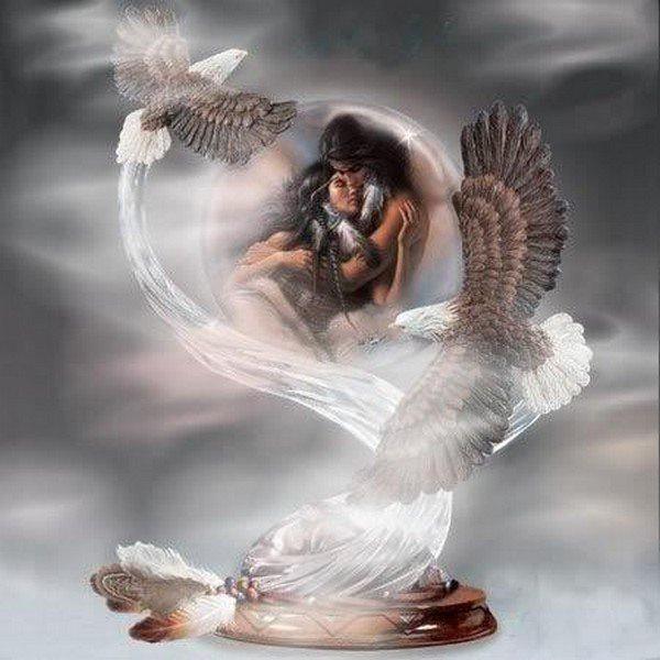 couple d indien avec aigle